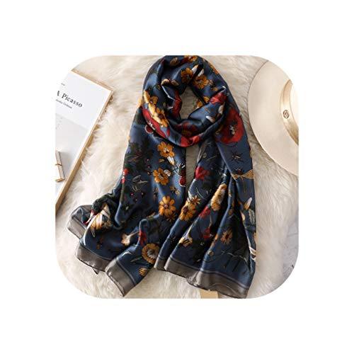 Luxury Silk Scarf Women Pashmina Sc…