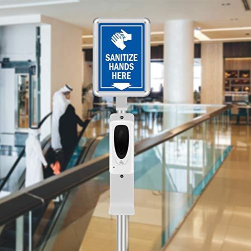 4YANG Dispenser Automatico di disinfettante per Le Mani da 1000 ml con Supporto Regolabile e Cartello, stazioni di sanificazione touchless, per luoghi pubblici l'esposizione di Natale e Capodanno