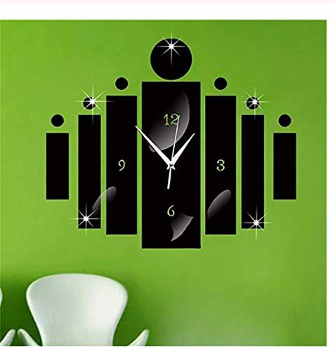 Wandklok Zilveren Spiegel Wandklok Modern Design Interieur Wandklok Zakelijke Muursticker