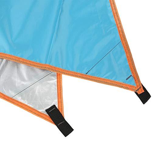 Toldo al Aire Libre, toldo para sombrilla, toldo Triangular para Exteriores Tienda Simple para Picnic de Acampada(Blue)