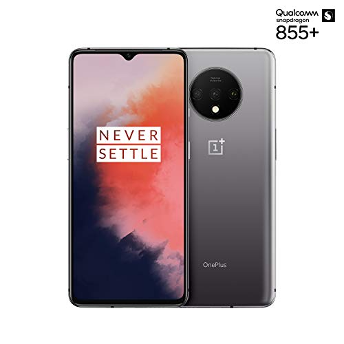 OnePlus 7T Smartphone Frosted Silver | 8 GB RAM + 128 GB Speicher | 16,6 cm AMOLED Display 90Hz Screen | Triple Kamera + Front-Kamera | Warp Charge 30