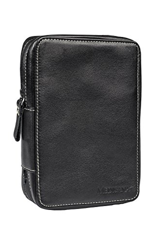 Medisana 79065 Diabetiker-Tasche Medikamententasche aus Echtleder, schwarz