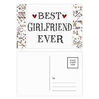 最高のガールフレンドは、これまでに引用・ハート 公式ポストカードセットサンクスカード郵送側20個