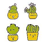2-4pcs / Set Animales Kawaii alfileres botón Insignia Broche Gato Cerdo Conejo Flor de Cactus de Mezclilla Camisa Chaquetas broches Mejor Amigo jewelyry (Talla : Style 9)