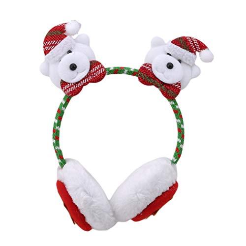 XQWR Weihnachtsbär Ohrenschützer Mädchen Stirnband Weihnachtsstirnband Ohrenschützer Dekoration (Stil 3)