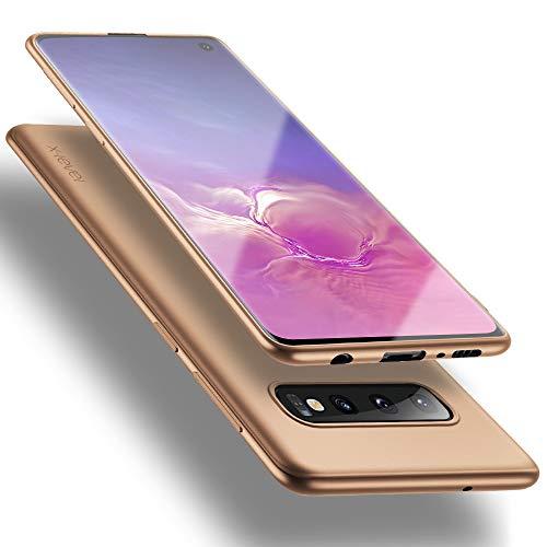 X-level Samsung Galaxy S10 Hülle, [Guardian Serie] Soft Flex TPU Hülle Superdünn Handyhülle Silikon Bumper Cover Schutz Tasche Schale Schutzhülle für Samsung Galaxy S10 6,1 Zoll - Gold