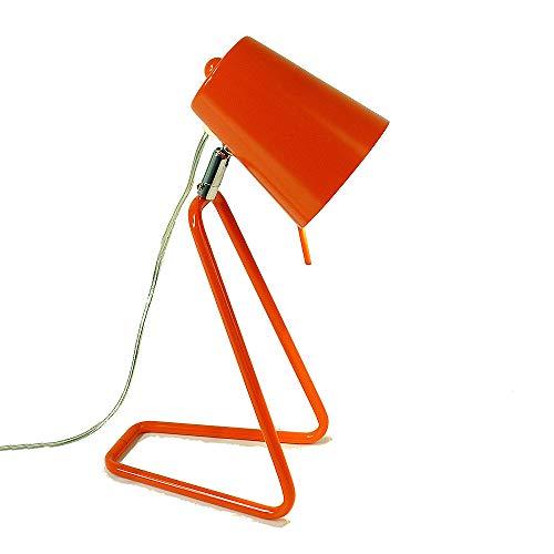Farbenfrohe Tischleuchte Tischlampe Rose Arbeitsleuchte Schreibtischleuchte Lampe Leuchte E14 Nachttischleuchte Kinderleuchte (orange)