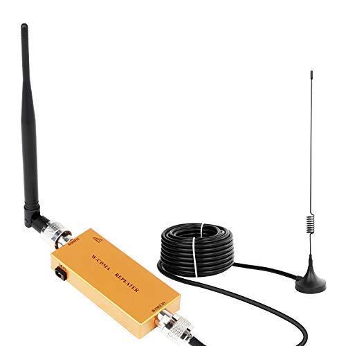 Yuanj Handy Signalverstärker Verstärker 3G 2100 MHz WCDMA Verstärker Telefon für Ladegeräte 2G 3G Repeater GSM Verstärker Sprachanruf und Daten für Multi Mobile Netzwerkanbieter (Gelb)
