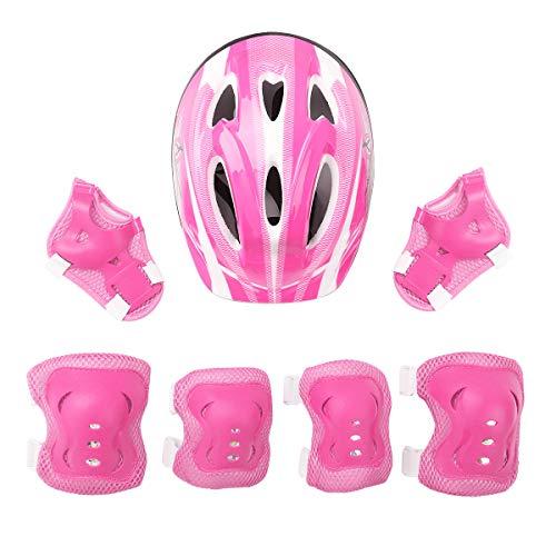 dPois Casco Infantil de Bicicleta Casco de Protección Seguridad Ajustable para Niñas...