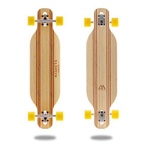 Laguna Longboard Collection | 36 inch Longboard Skateboards | Bamboo with Hard Maple Core | Cruising Carving Dancing Freestyle … Twin