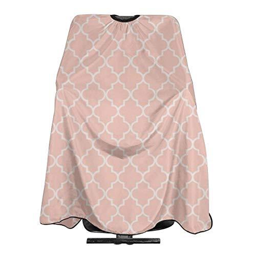 Moroccan Geometric Pattern - Peach Personalized Custom Professional Friseursalon-Schürze, Polyester Hair Shawl 55