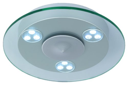 Trio-Leuchten 620410305 LED-Deckenleuchte 3x9W LED-Puk D: 40 cm Höhe: 8 cm alufarbig lackiert