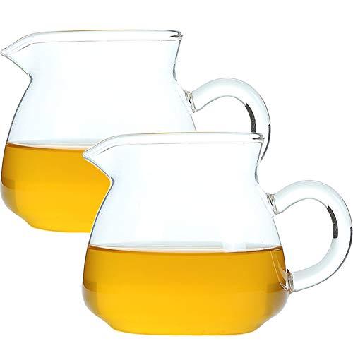 9Oz 260ml Creamer Glas Melk Pitcher met Handvat Koffie Serveerschaal voor Saus Esdoorn Siroop in Keuken Tafel