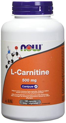 NOW L Carnitine 500mg 180 Veg Capsules 180 g