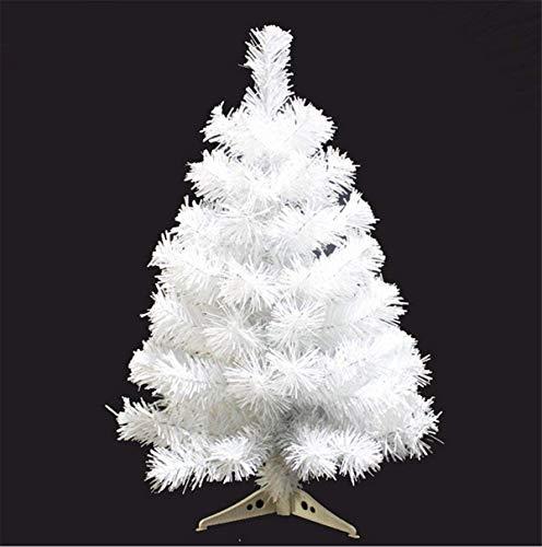 Fouriding 60cm Albero di Natale Artificiale PVC Decorazione di Natale Christmas Tree, Bianco