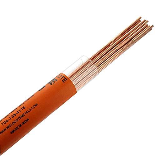 """Weldcote Metals ER70S-2 3/32"""" X 36"""" Tig Welding Rod 1 Lb."""