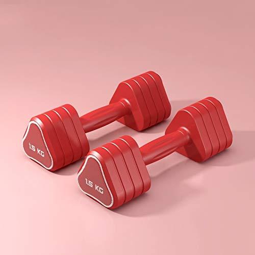 manubri palestra triangolari XINGLIAN Set di 2 Triangolare Manubri Donne Esercizio & Fitness Manubri Palestra Fitness Esercizio Bicipiti Formazione 1.5kgx2