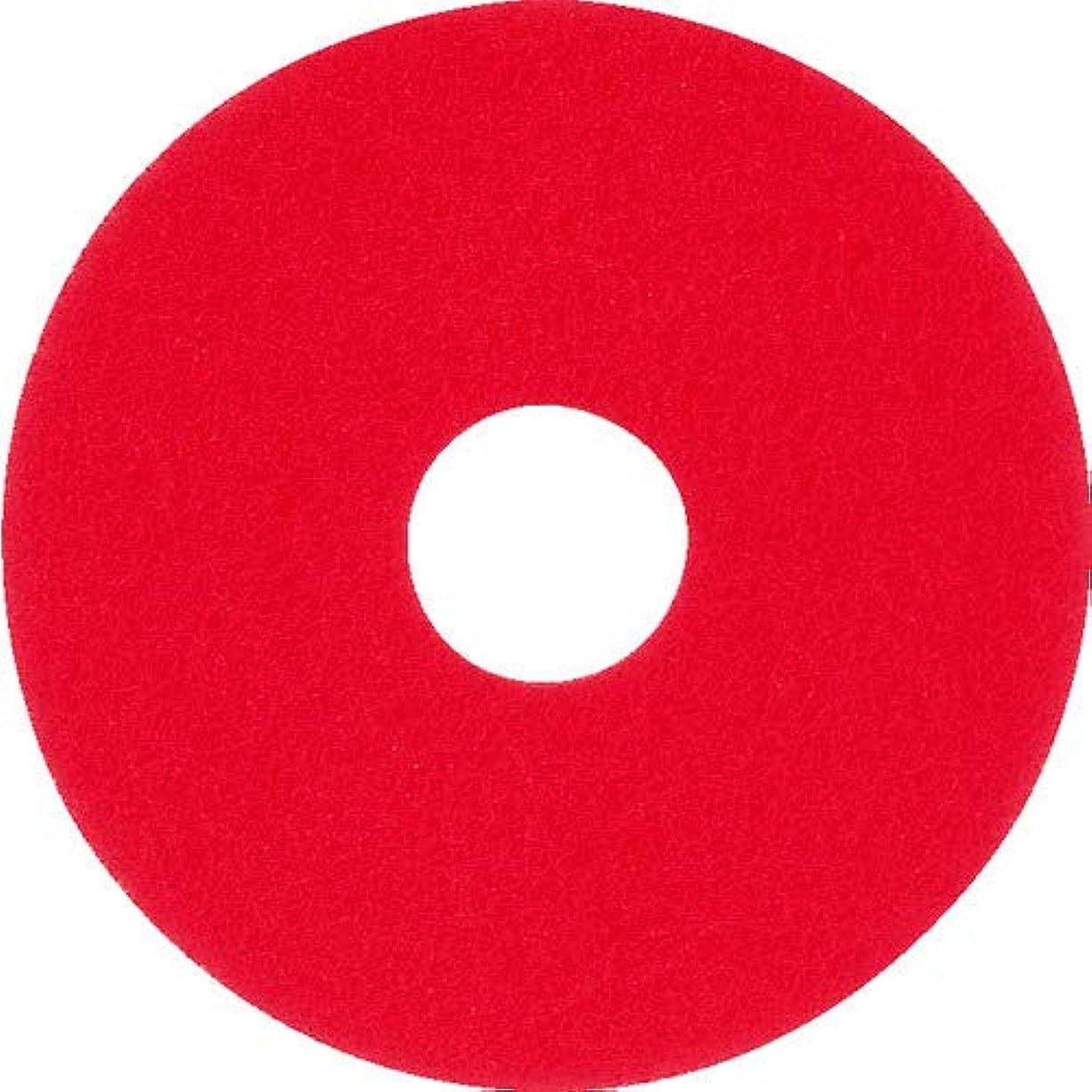 私たちカリキュラム実質的アマノ フロアパッド17 赤 HAL700800 【5枚入】