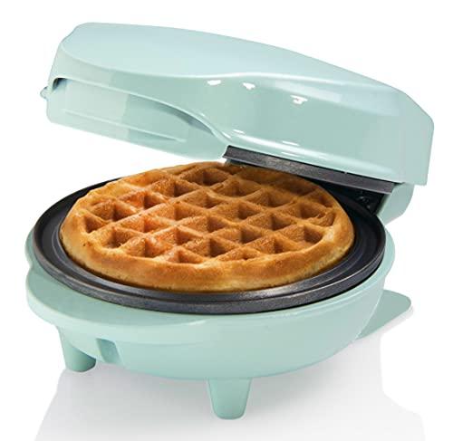 Bestron AMW500M Mini Piastra per Waffle, Metallo e plastica, Menta