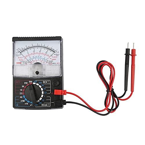 Multímetro analógico, multímetro, voltímetro, amperímetro, ohmios, voltaje CA/CC, prueba de resistencia de corriente