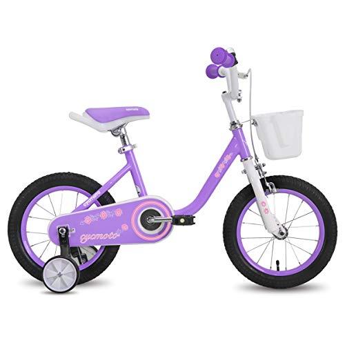 Hiland Bici per bambini e bambine, 3 anni di età, con ruote di supporto da 14 pollici
