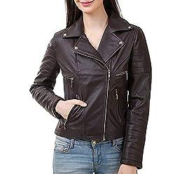 DELHITRADERSS Stylish Girls/Ladies/Women Slim Fit Zipper Design Winter Jacket(Code-BRWN)(Size-M)