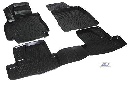 J&J AUTOMOTIVE   3D Exclusive Tapis DE Sol en Caoutchouc Compatible avec Renault Megane III 2008-2016 4pcs