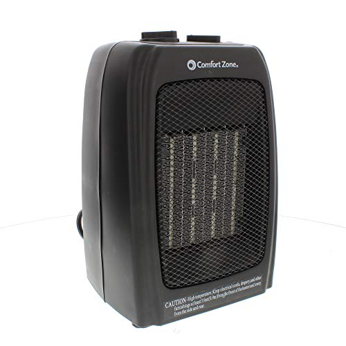 Comfort Zone CZ442 1500 Watt Ceramic Electric Portable Heater, Black Electric heaters Space