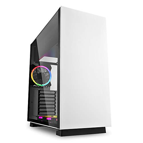 Sharkoon Pure Steel RGB Addressable Case da Gaming, Bianco