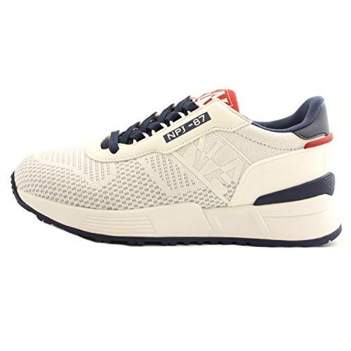 NAPAPIJRI Scarpe Sneakers Casual Uomo Bianca Modello Sparrow. Primavera Estate 2021 n.43