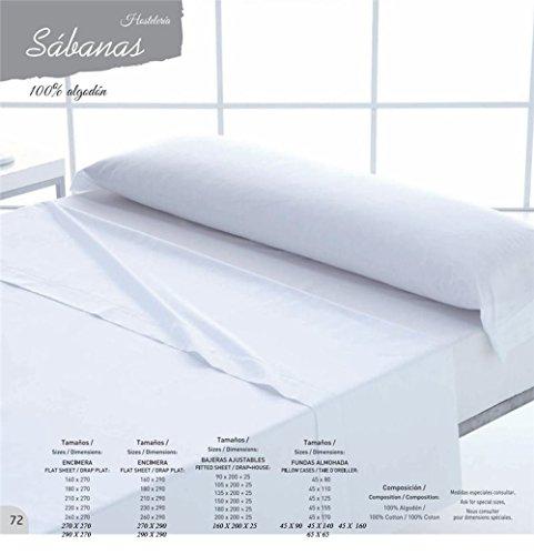España SABANAS HOSTELERIA Algodon 100% Todas Las Medidas (ENCIMERA 230 X 290CM)