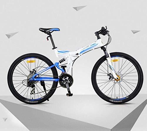 Bicicleta de montaña, bicicleta plegable hombres y mujeres, de 26 pulgadas de velocidad variable de 27 velocidades bicicleta de montaña, Doble amortiguadora de golpes Estudiante MTB bicicleta de carre