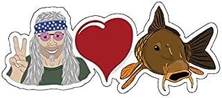 Mountain Creek Anglers Peace Love & Carp Sticker Decal