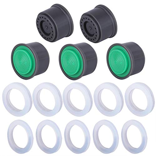 5 Pack 0.5 GPM Regular Size Water-Saving Sink Faucet Aerator Insert Replacements, Flow Restrictor Sink Faucet Aerators Replacement Parts for Bathroom or Kitchen by NIDAYE