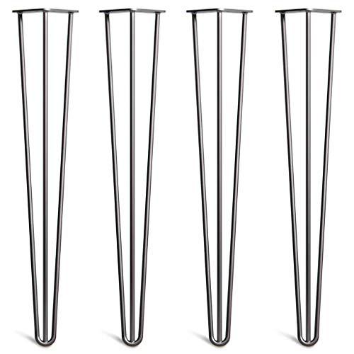KKYY 4 X Haarnadel Tischbeine - üBerlegene Konstruktion Aus Doppelt GeschweißTem Eisen Mit Freien Schrauben Und SchutzfüßEn