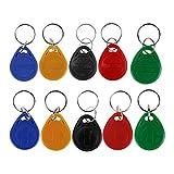 HFeng 10pcs tarjeta llave de proximidad 125kHz RFID de control de acceso tk4100 em4100 Llaveros Llaveros Smart ID tarjeta llave