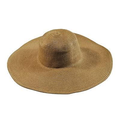 Shihuawu Sombrero Plegable de ala Ancha para Mujer de Verano, Sombrero de Playa con Tapa Blanda, Sombrero para el Sol, Sombrero de Paja para Mujer, Color caqui-G0847
