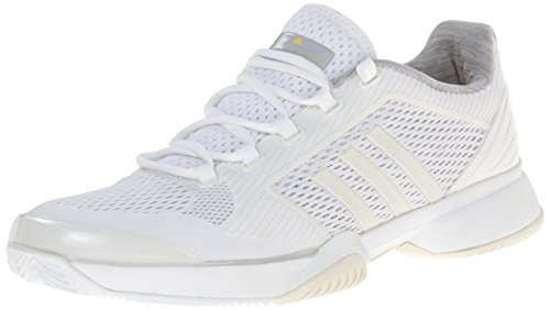 adidas Performance Women's ASMC Barricade 2015 Tennis Shoe, White/White/Yellow, 10 M US