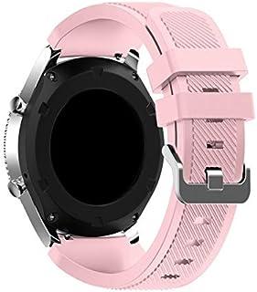 Huawei Watch GT 2 Kordon Akıllı Saat Kordonu Silikon Kayış (42mm, Pembe)