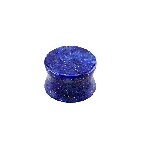 eeddoo Flesh Tunnel Plug Lapislazuli Blau Stein 8 mm