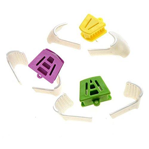 Angzhili Boca dental, soporte interno, bloque de mordedura dental, 3 tamaños L/M/S, almohadilla oclusal + 6 piezas kit de protectores de lengua