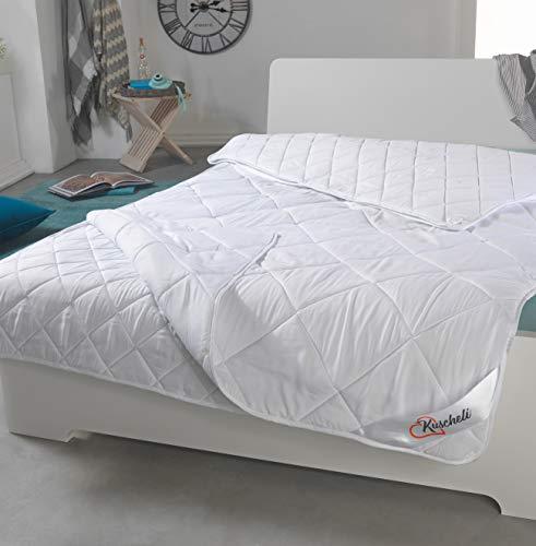 Kuscheli® 4-Jahreszeiten Bettdecke 135x200 Ganzjahres-Steppbett-Set mit Druckknöpfen für Sommer und Winter. Allergiker geeignet (2-teilig)