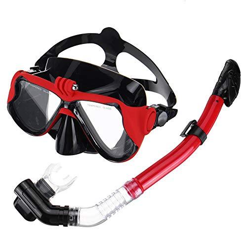 QWERT Easybreath Profesional Gafas de Bucear Gafas de Natación Adultos Tubo Respirador Máscara de Buceo Máscara Snorkel Anti-Niebla Anti-Fugas