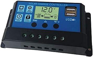 جهاز منظم ومؤقت لضبط المصابيح للتحكم بشحن بطارية اللوحة الشمسية لاضواء الليد في الشوارع ونظام الطاقة الشمسية المنزلي 30 امبير 12 فولت و24 فولت