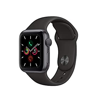 Apple Watch Series 5 (GPS, 40mm) - Space Gray Aluminum Case with Black Sport Band (B07XR5TRSZ) | Amazon price tracker / tracking, Amazon price history charts, Amazon price watches, Amazon price drop alerts