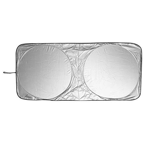 XDRE Parasol Coche 150X70cm la sombrilla del Coche Parasol Delantero Posterior película de la Ventana del Parabrisas del Visera Cubierta UV Proteger Reflector Coche-Estilo Cortina de Malla para Coche