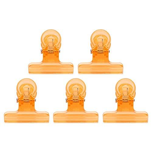 5 pièces 4 couleurs Clips d'extension d'ongle courbe C Accessoires multifonctionnels d'art d'ongle en plastique(Orange)