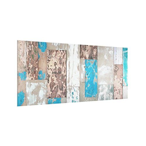 Bilderwelten Panel antisalpicaduras de Cristal - Maritime Planks - Horizontal 1:2, Panel antisalpicaduras Panel de Vidrio para Cocina Panel Protector contra Salpicaduras, Tamaño: 59cm x 120cm