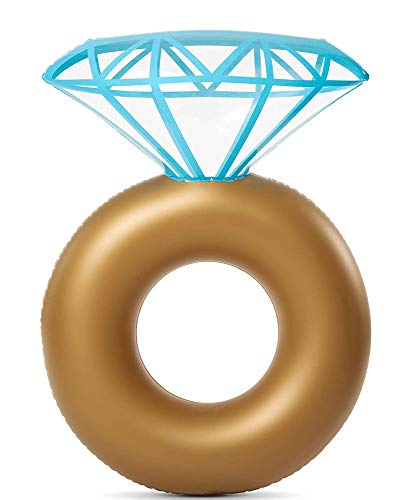 SOFEELING Anillo de baño Flotante Inflable en Forma de Diamante (Diamond Shaped)