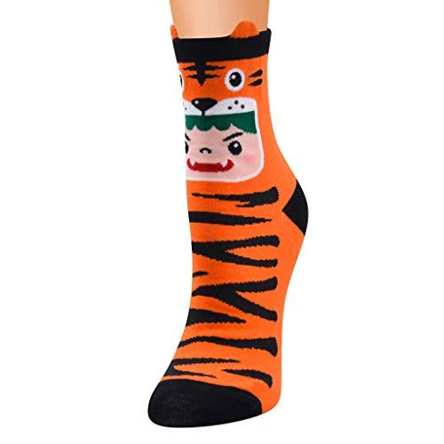 Unisex Halloween Socks Zebra and Leopard Print Cotton Socks Vintage Cashmere Fashion Long Comfortable Socks Tiger Leopard Cat Paws Pattern Socks Women Stripe Lined Animal Pattern